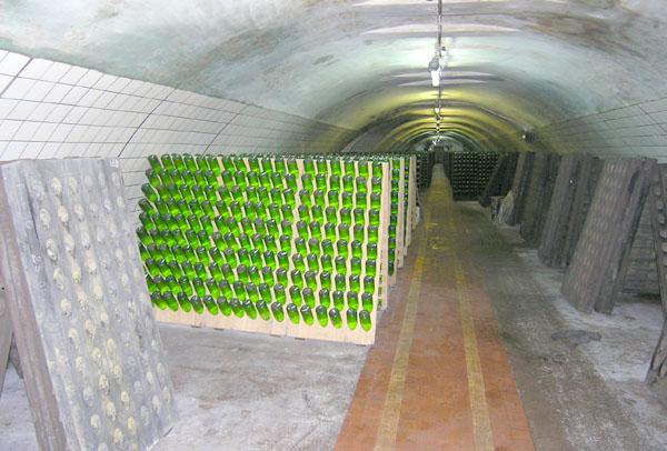 Abrau Durso sparkling wine racks
