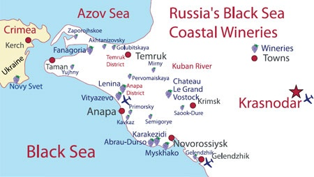 Russian Black Sea Coast Wineries