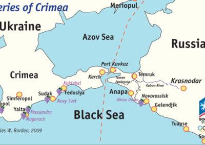 Crimea Winery Map