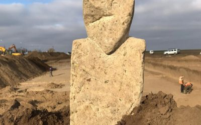 Ancient Türkic Statue from the 7th-8th century AD has been found by archaeologists in the Temryuk District